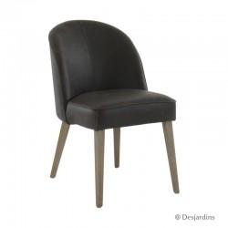 Chaise basse - marron -...