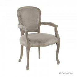 Fauteuil baroque - taupe -...