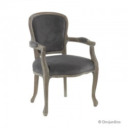 Fauteuil baroque - gris -...