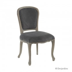 Chaise baroque - gris -...