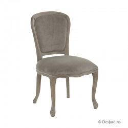 Chaise baroque - taupe -...