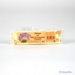 Nougat blanc au miel de lavande - 35g
