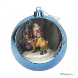 """Boule bleue """"Père Noël"""" -..."""