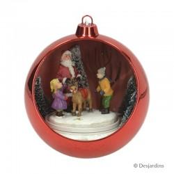 """Boule rouge """"Père Noël"""" -..."""