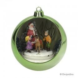 """Boule verte """"Père Noël"""" -..."""
