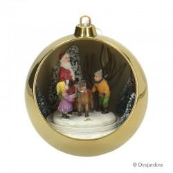 """Boule dorée """"Père Noël"""" -..."""