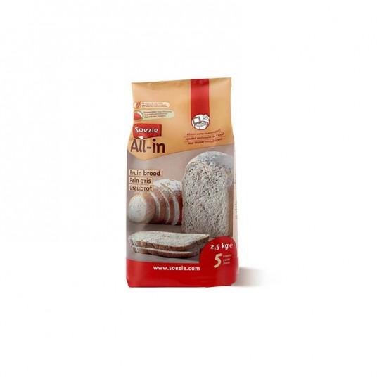 Farine all in pain gris 2.5 kg - SOEZIE
