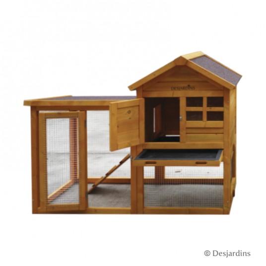 Poulailler en bois - 122 x 62 x 93 cm - marron - DESJARDINS