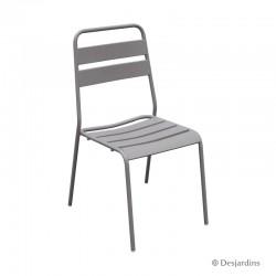 Chaise métal - Gris clair -...