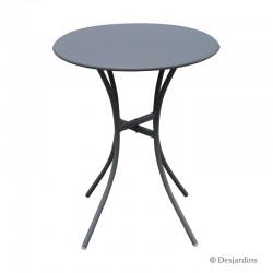 Table métal - Ø60 cm - Gris...