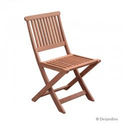 Chaise pliante en bois -...