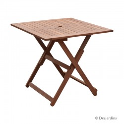 Table bois - 80x80 cm -...