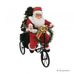 Père Noël tricycle - 45 cm...