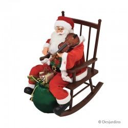 Père Noël sur rocking chair...