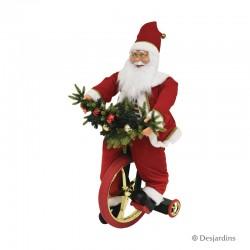 Père Noël sur tricycle - 95 cm