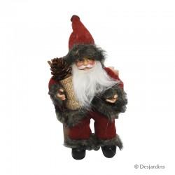 Père Noël avec ski - 18 cm