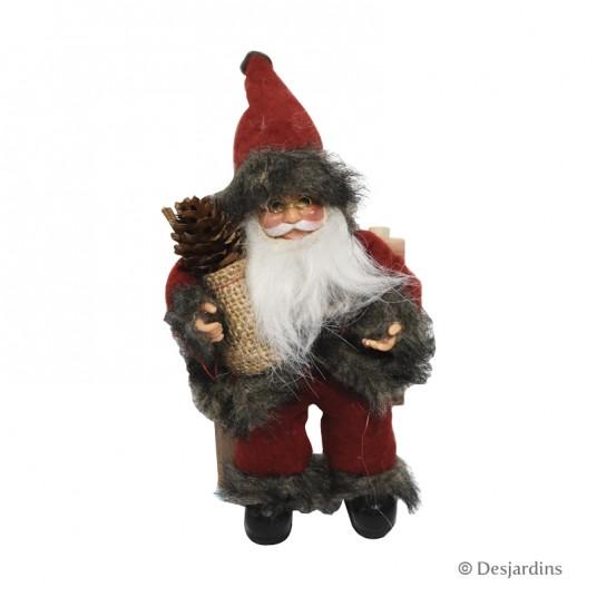Père Noël à suspendre - 18 cm - DESJARDINS