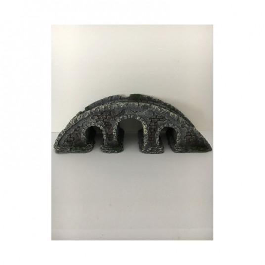 décor d'aquarium - pont en pierre
