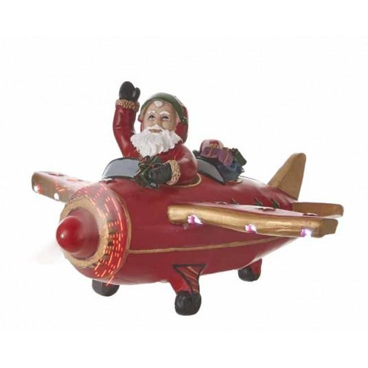 "Avion ""Santa's Plane Red"" - LUVILLE"