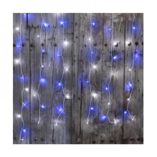 "Rideau ""Flicker Light® LED"" - blanc pur/bleu - 2 m - BLACHÈRE"