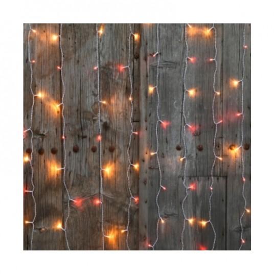 """Rideau """"Flicker Light® LED"""" - blanc chaud/ambre - 2 m - BLACHÈRE"""