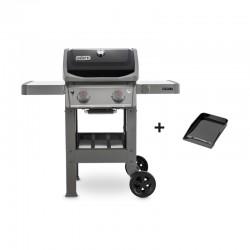 Barbecue au gaz Spirit II E-210 noir + plancha de la marque Weber