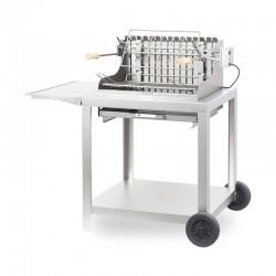 Barbecue au charbon Exclusive Mendy sur chariot - Inox de la marque Le Marquier