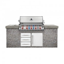 Barbecue au gaz PRO 665 encastrable inox de la marque Napoléon