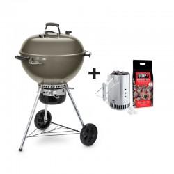 Barbecue au charbon Master-Touch GBS C-5750 Ø57 cm gris + kit cheminée d'allumage de la marque Weber