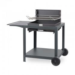 Barbecue au charbon Exclusive Montory sur chariot - Acier de la marque Le Marquier