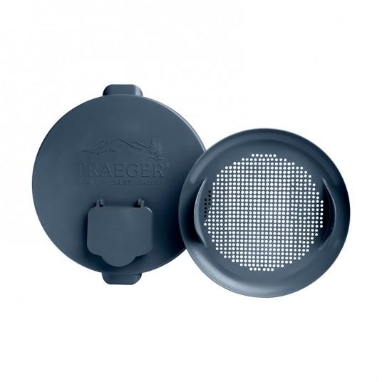 Couvercle pour seau de stockage à pellets avec filtres - TRAGER