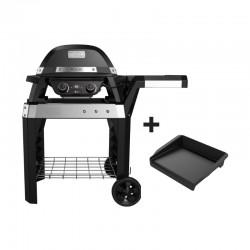 Barbecue électrique Pulse 2000 sur chariot + plancha offerte de la marque Weber