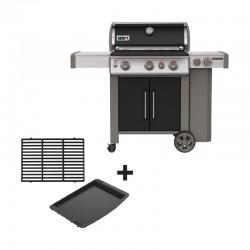 Barbecue au gaz Genesis II EP-335 GBS noir + pack grille/plancha offert de la marque Weber
