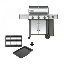 Barbecue au gaz Genesis II LX S-340 GBS inox + pack grille/plancha offert de la marque Weber