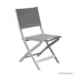 Chaise pliante Edimbourg - Blanc/gris de la marque Desjardins