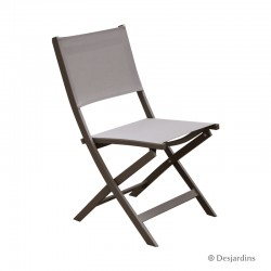 Chaise pliante Edimbourg - Taupe de la marque Desjardins