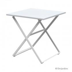 Table Edimbourg 70 x 70 cm - Blanc de la marque Desjardins