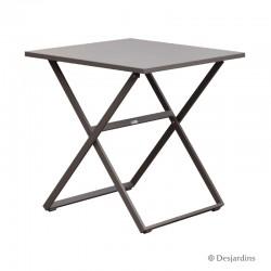Table Edimbourg 70 x 70 cm - Taupe de la marque Desjardins