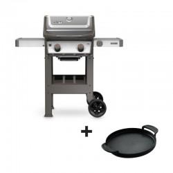 Barbecue au gaz Spirit II S-210 GBS inox + plancha offerte de la marque Weber
