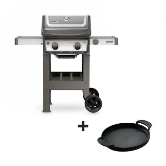 """Barbecue gaz """"Spirit II S-210 GBS"""" inox + plancha offerte - WEBER"""