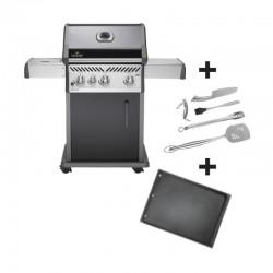 Barbecue au gaz Rogue R425SBPK noir + plancha et kit accessoires offerts de la marque Napoléon