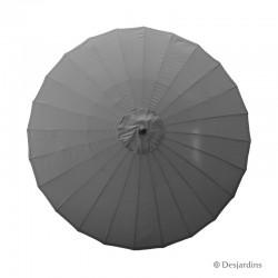 Parasol rond Zen - Gris -...