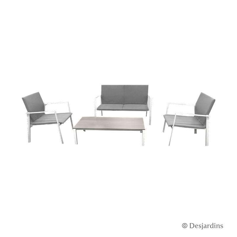 Ensemble Glasgow - Blanc/gris de la marque Desjardins