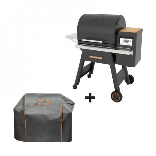 "Barbecue à pellets ""Timberline 850"" noir + housse offerte - TRAEGER"