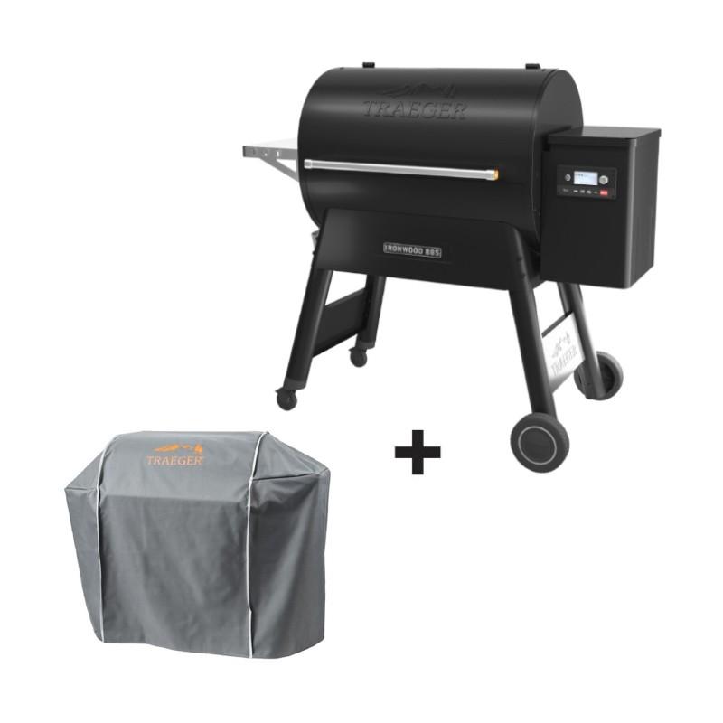 Barbecue à pellets Ironwood 885 noir + housse offerte de la marque Traeger