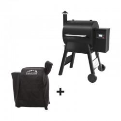 Barbecue à pellets PRO 575 noir + housse offerte de la marque Traeger