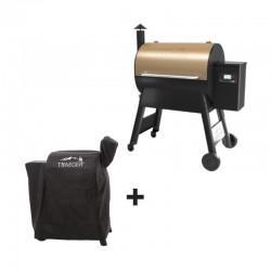 Barbecue à pellets PRO 575 bronze + housse offerte de la marque Traeger