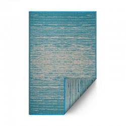 Tapis d'extérieur Brooklyn bleu canard - 90 x 150 cm de la marque Fab Hab