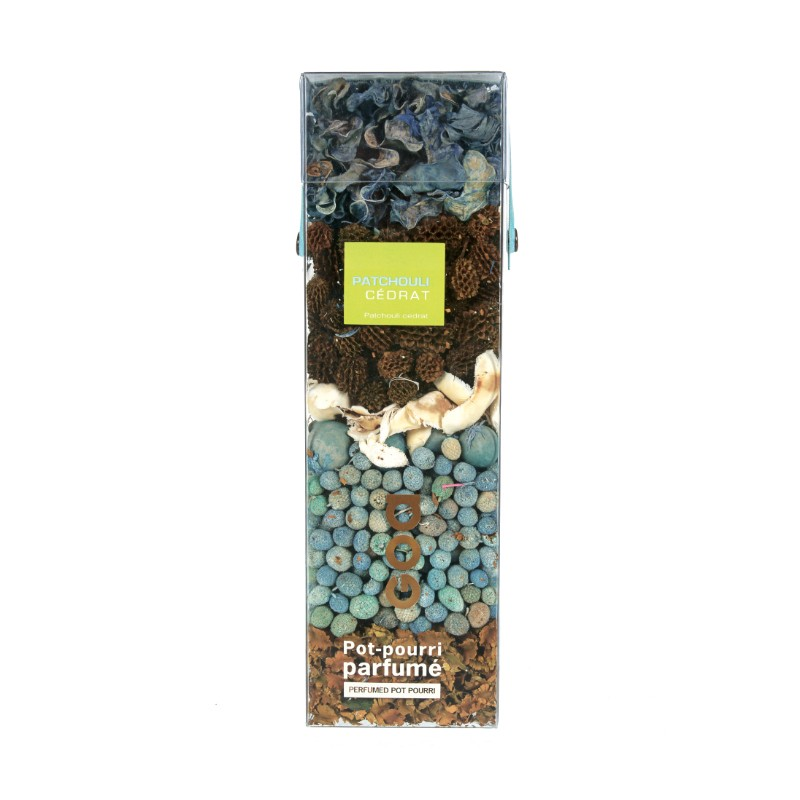 Pot-pourri parfumé Patchouli cédrat de la marque Clem Goa