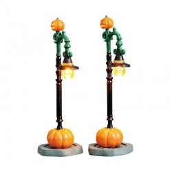 Lampadaire Witch Pumpkin Patch X2 de la marque Lemax